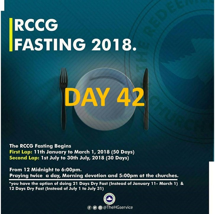 (RCCG) fasting 2018 prayer points for day 42