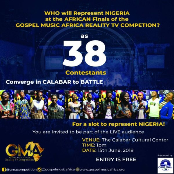 Calabar Set To Host The Nigerian Audition Finals Of The Gospel Music Africa Reality TV Competition