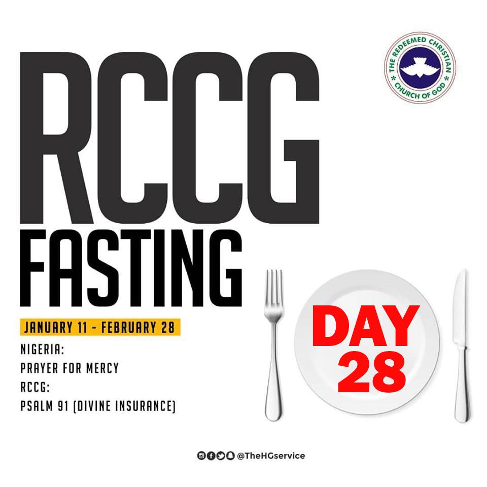 Day 28: RCCG 2019 Fasting Prayer Points – Thursday 7th February 2019