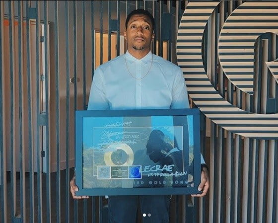 """Lecrae Song """"Blessings"""" wins RIAA Awards Certified Gold plaque"""