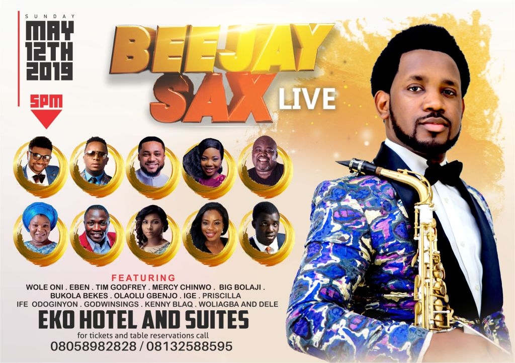 EVENT: Beejay Sax Returns With BeejaySaxLive2019