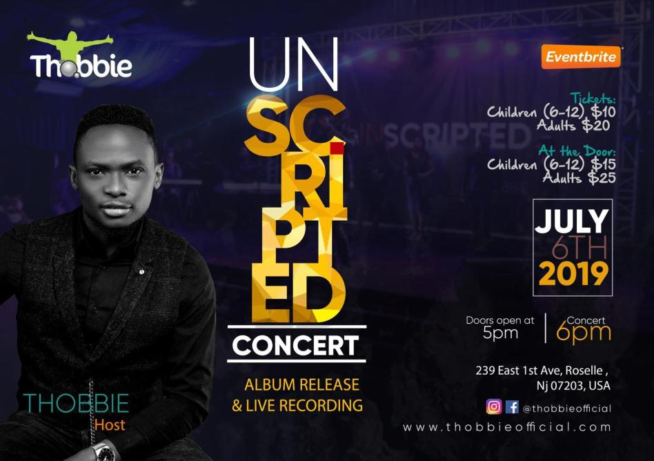 """THOBBIE set to Light Up New Jersey This Weekend with """"UNSCRIPTED"""" Concert 2019 // July 6"""